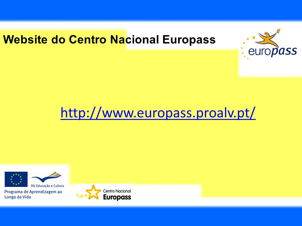 Website do Centro Nacional Europass