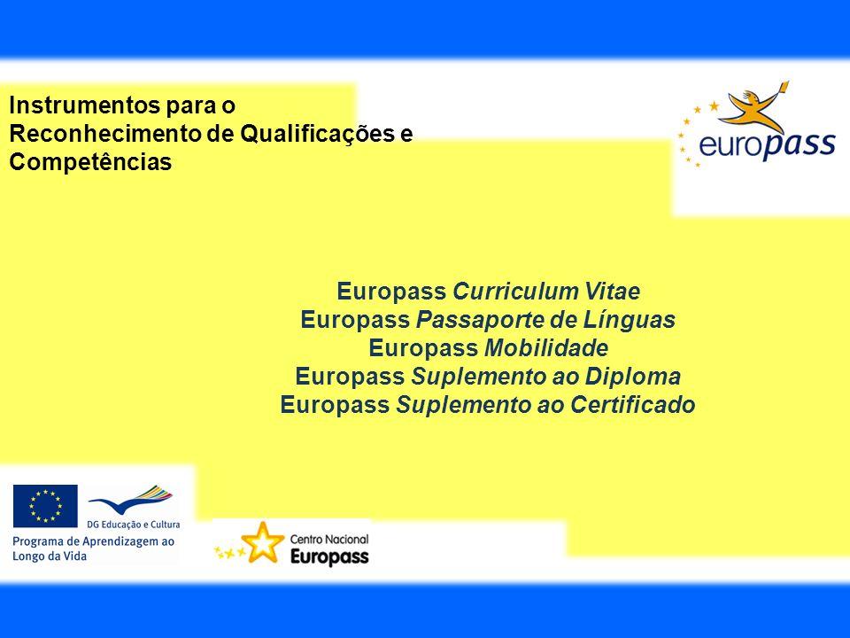 Europass Suplemento ao Certificado