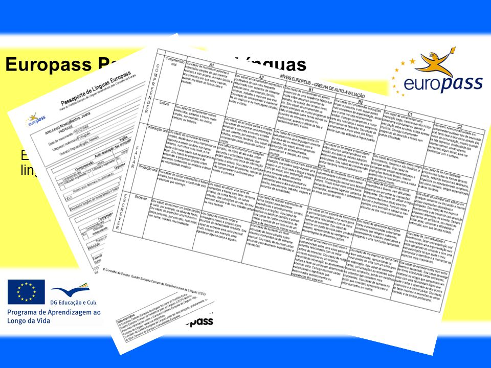 Europass Passaporte de Línguas