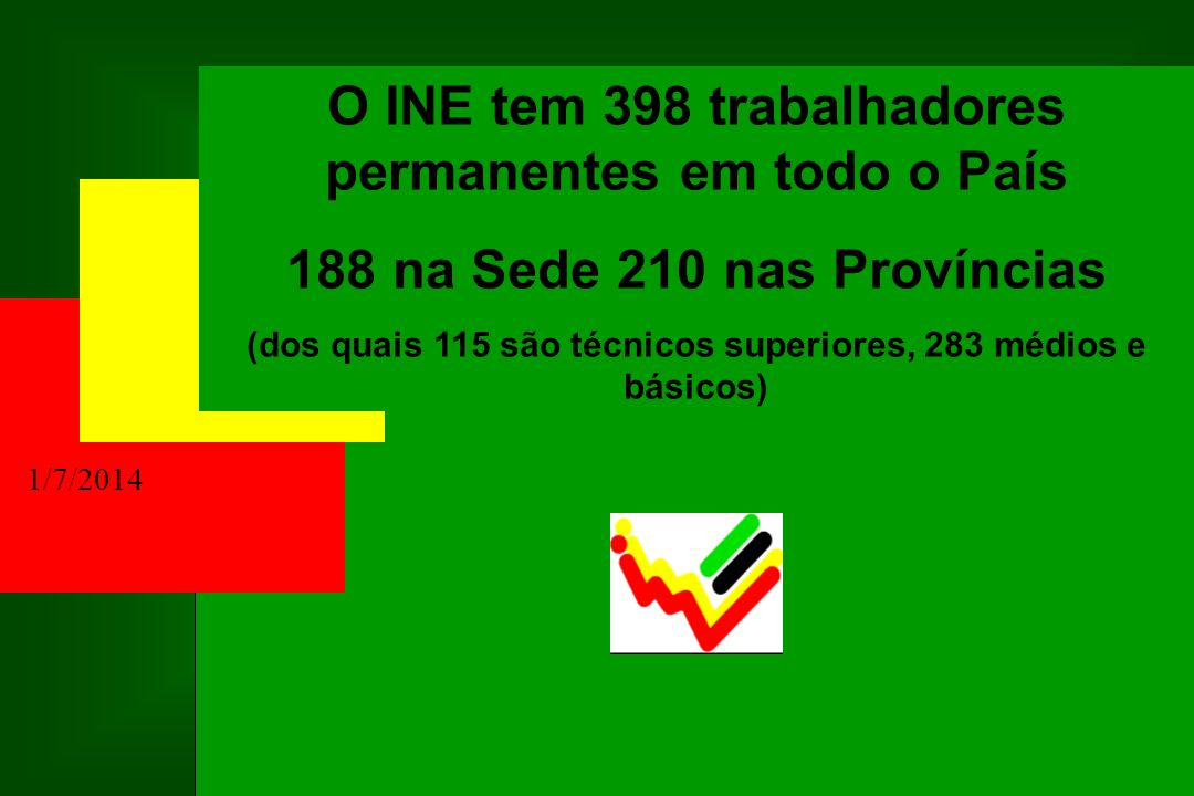 O INE tem 398 trabalhadores permanentes em todo o País