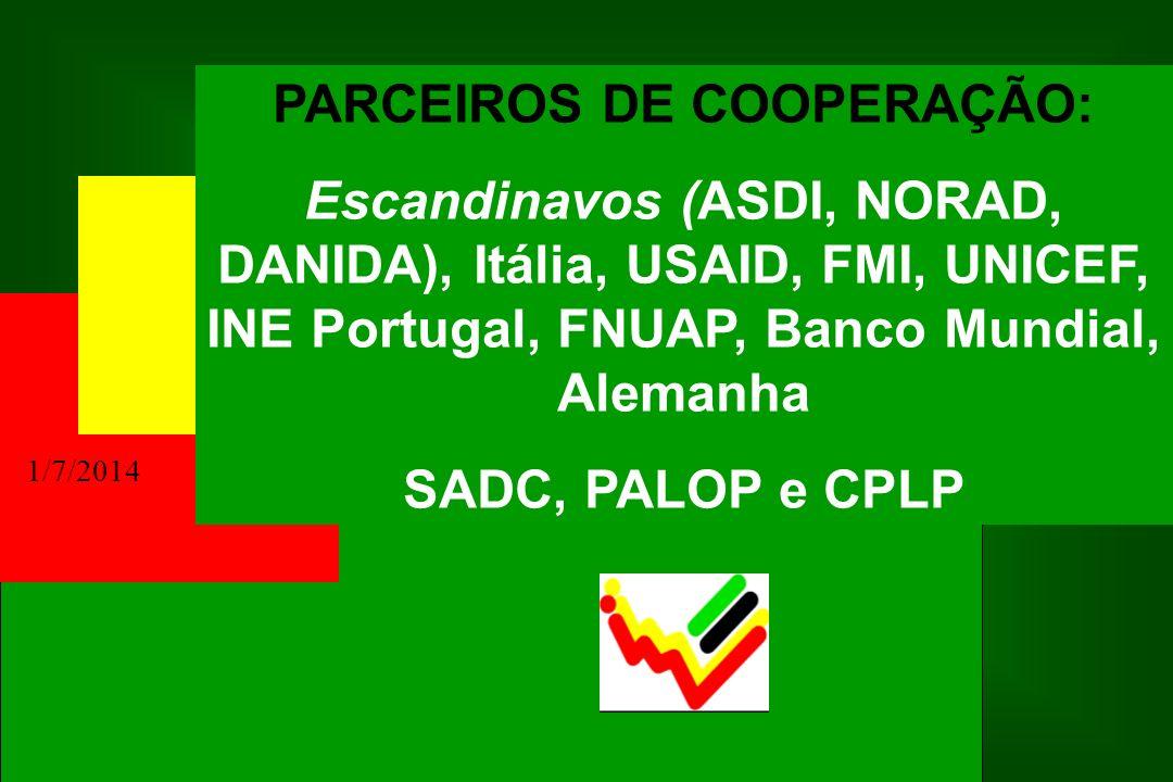 PARCEIROS DE COOPERAÇÃO: