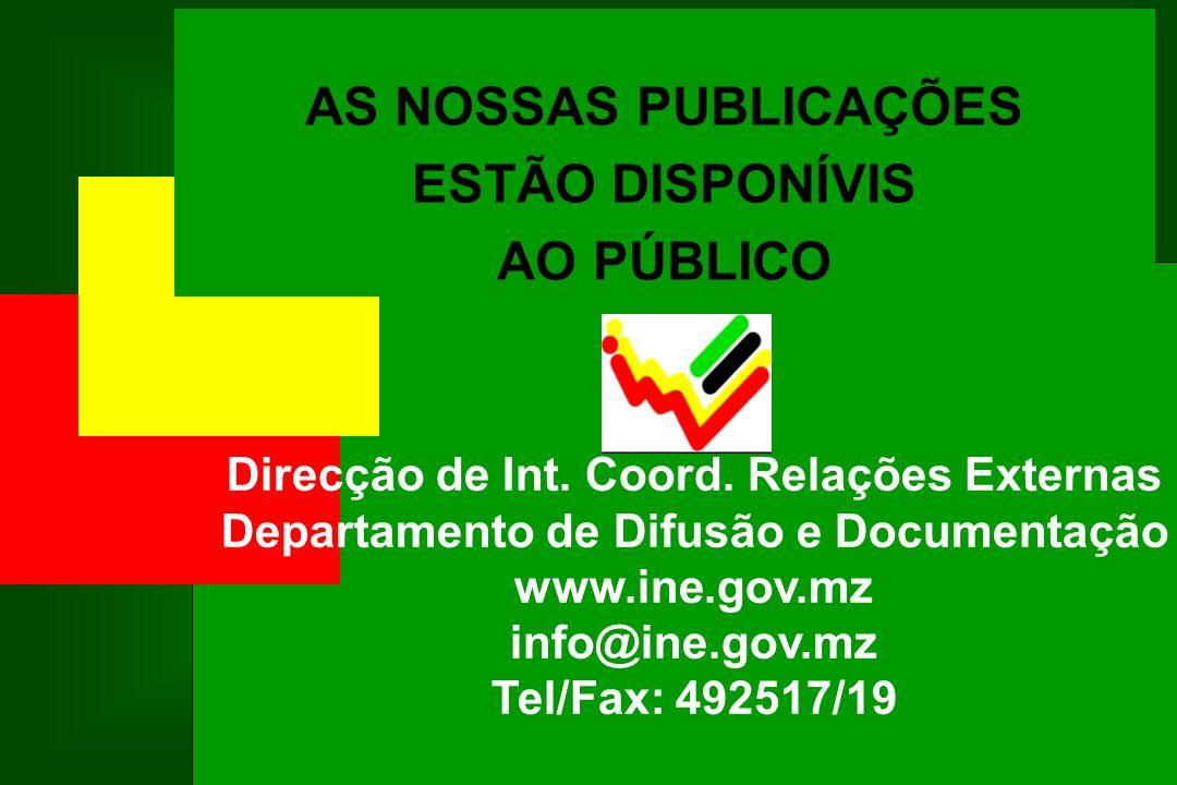 AS NOSSAS PUBLICAÇÕES ESTÃO DISPONÍVIS AO PÚBLICO