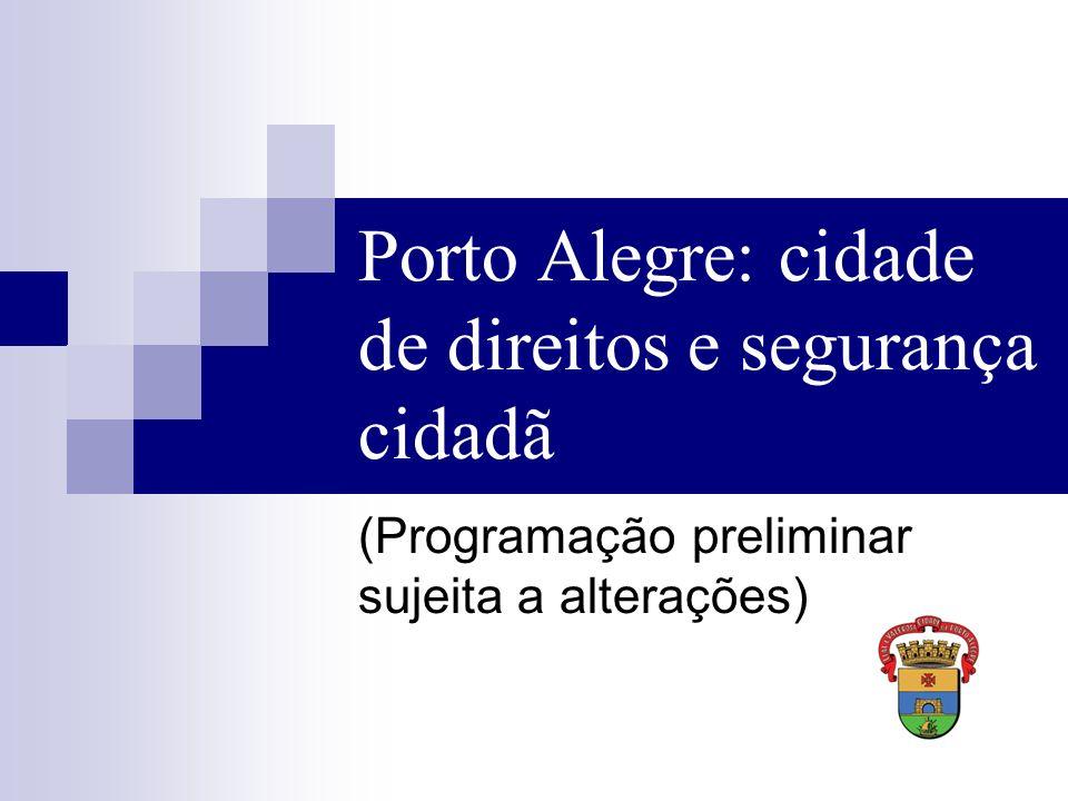 Porto Alegre: cidade de direitos e segurança cidadã