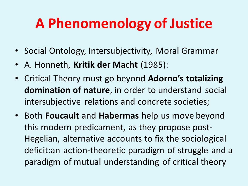 A Phenomenology of Justice