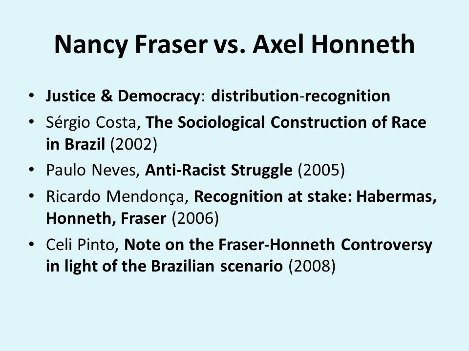 Nancy Fraser vs. Axel Honneth