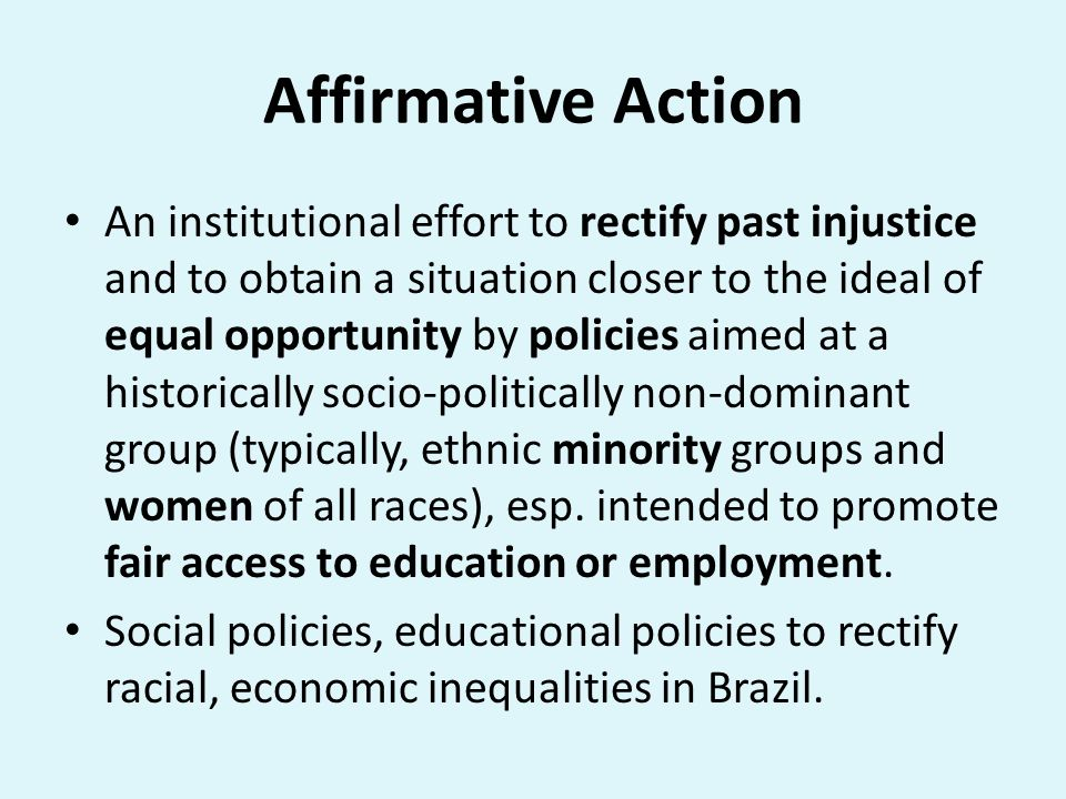 the harms of affirmative action essay This essay is about the moral and affirmative action the fair-start defense justifies affirmative action preferences as a response to harms caused by.