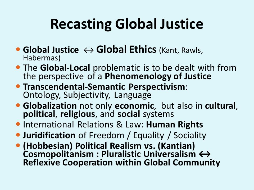 Recasting Global Justice