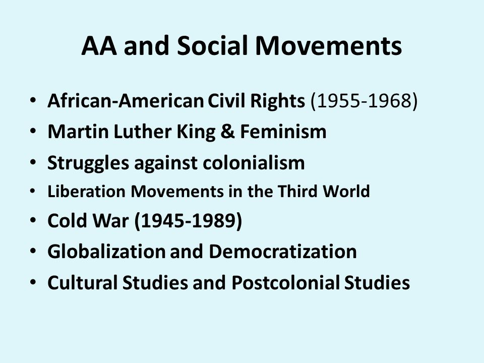 AA and Social Movements