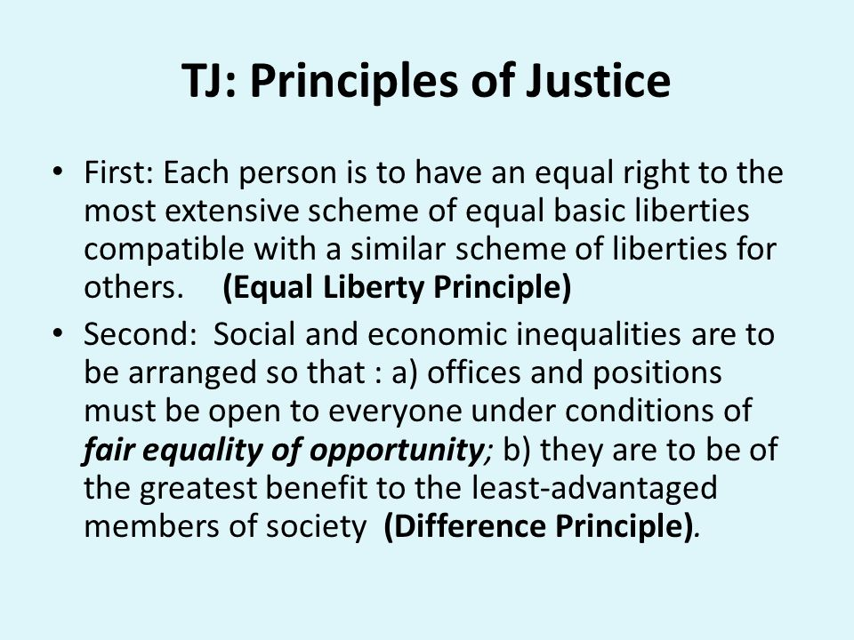 TJ: Principles of Justice
