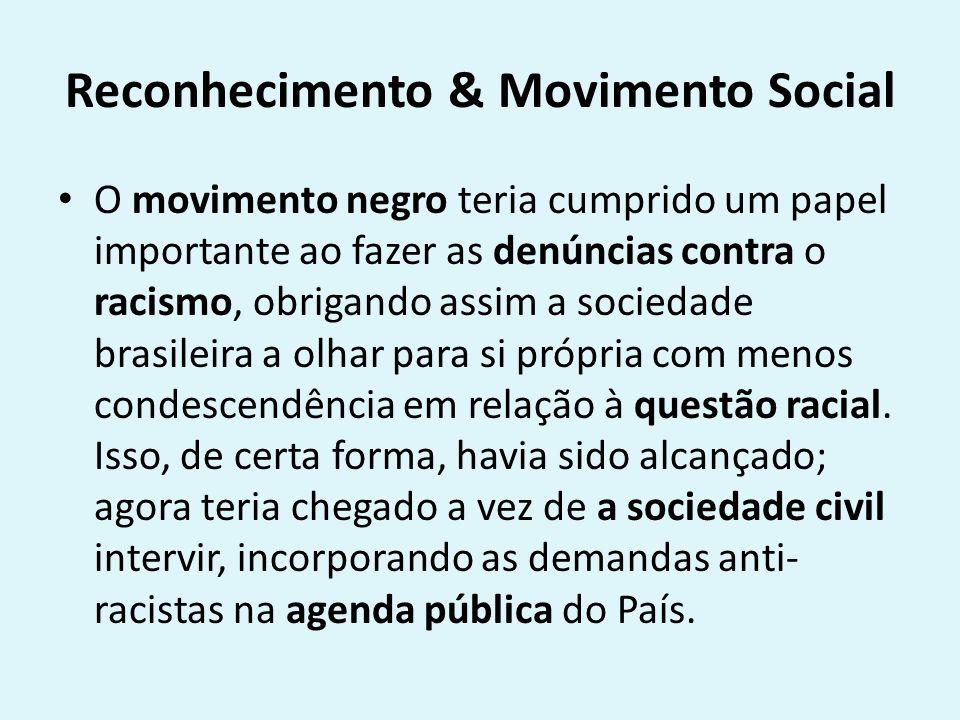 Reconhecimento & Movimento Social