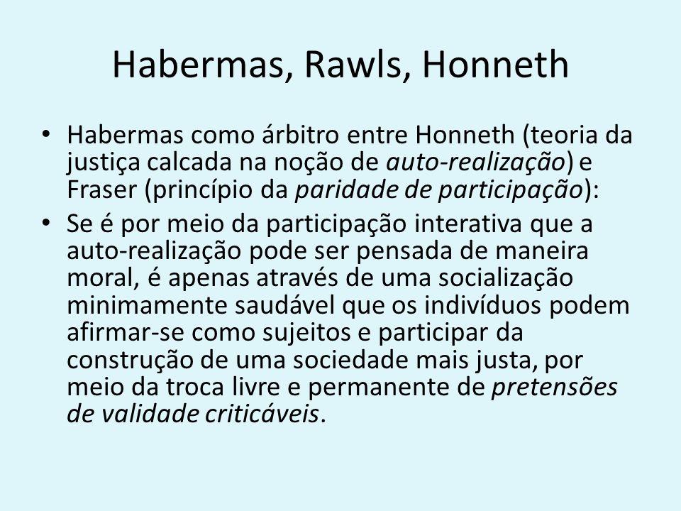 Habermas, Rawls, Honneth