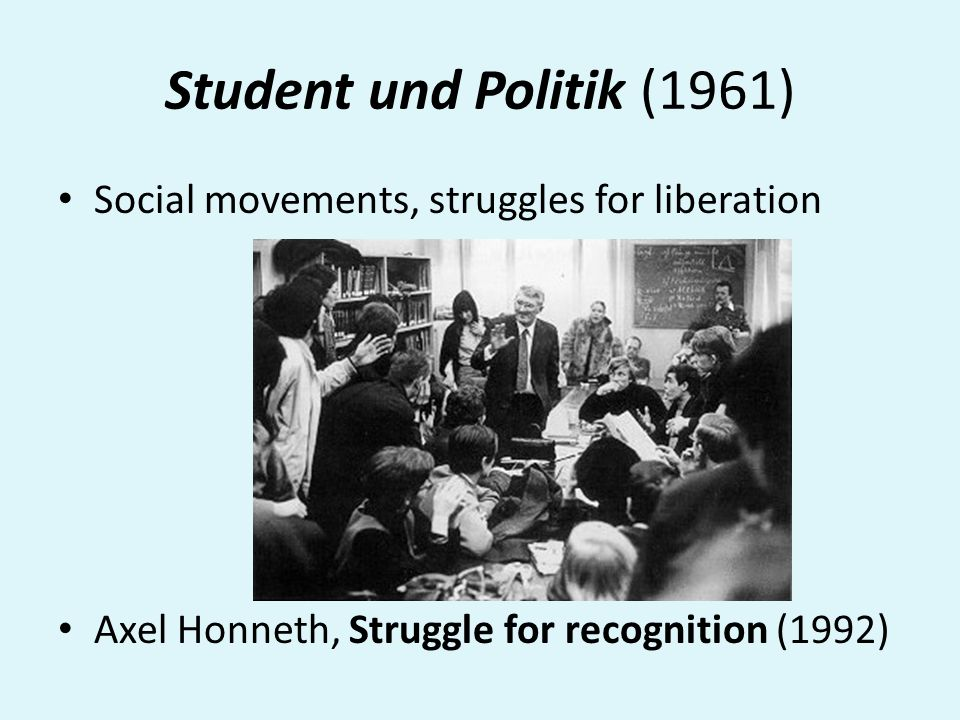 Student und Politik (1961) Social movements, struggles for liberation