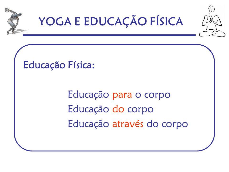 YOGA E EDUCAÇÃO FÍSICA Educação Física: Educação para o corpo