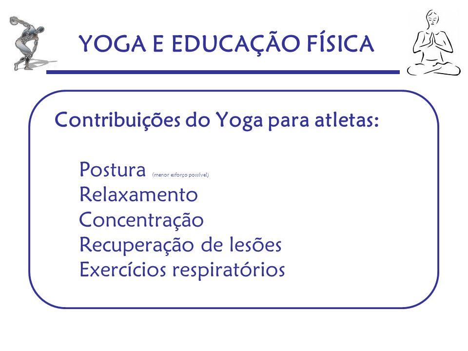 YOGA E EDUCAÇÃO FÍSICA Contribuições do Yoga para atletas: