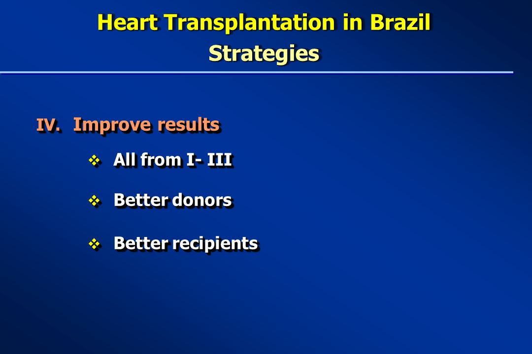 Heart Transplantation in Brazil Strategies