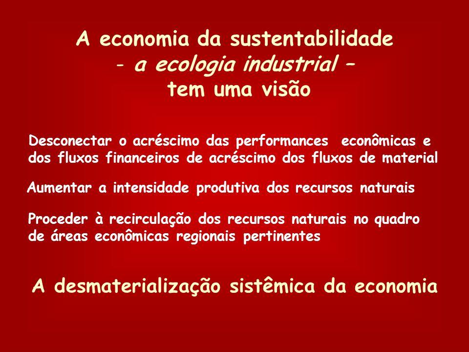 A economia da sustentabilidade a ecologia industrial – tem uma visão