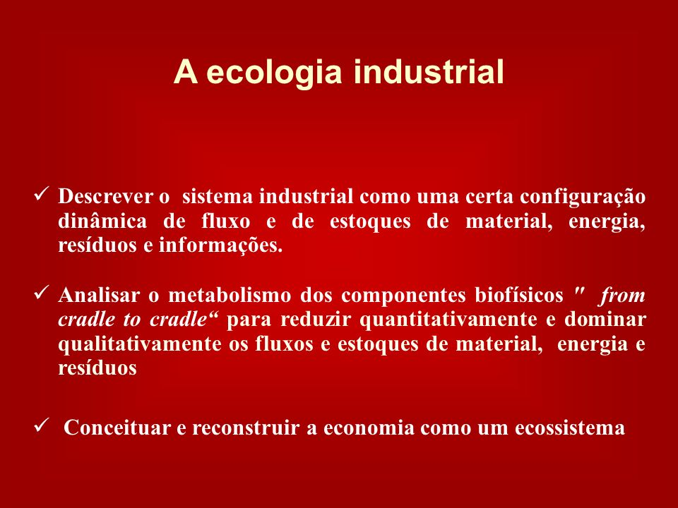 A ecologia industrial