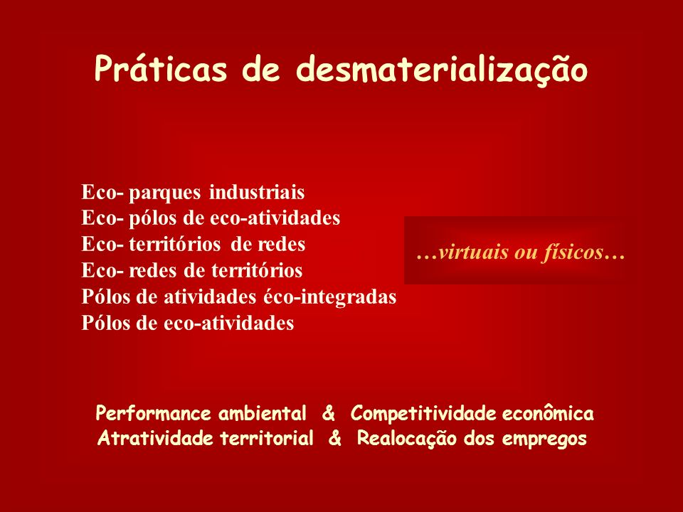 Práticas de desmaterialização