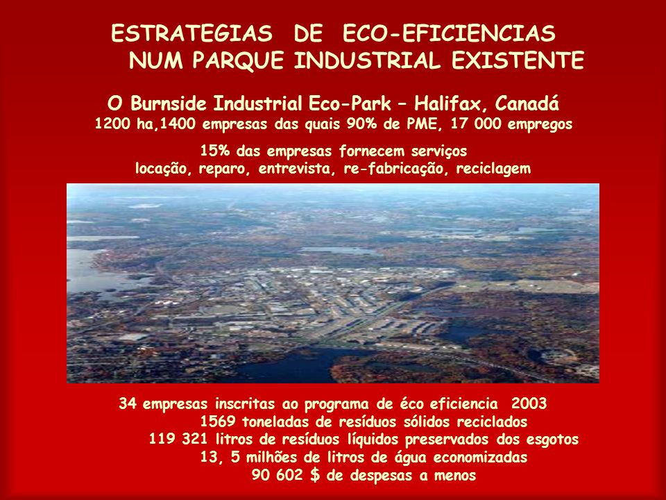 ESTRATEGIAS DE ECO-EFICIENCIAS NUM PARQUE INDUSTRIAL EXISTENTE
