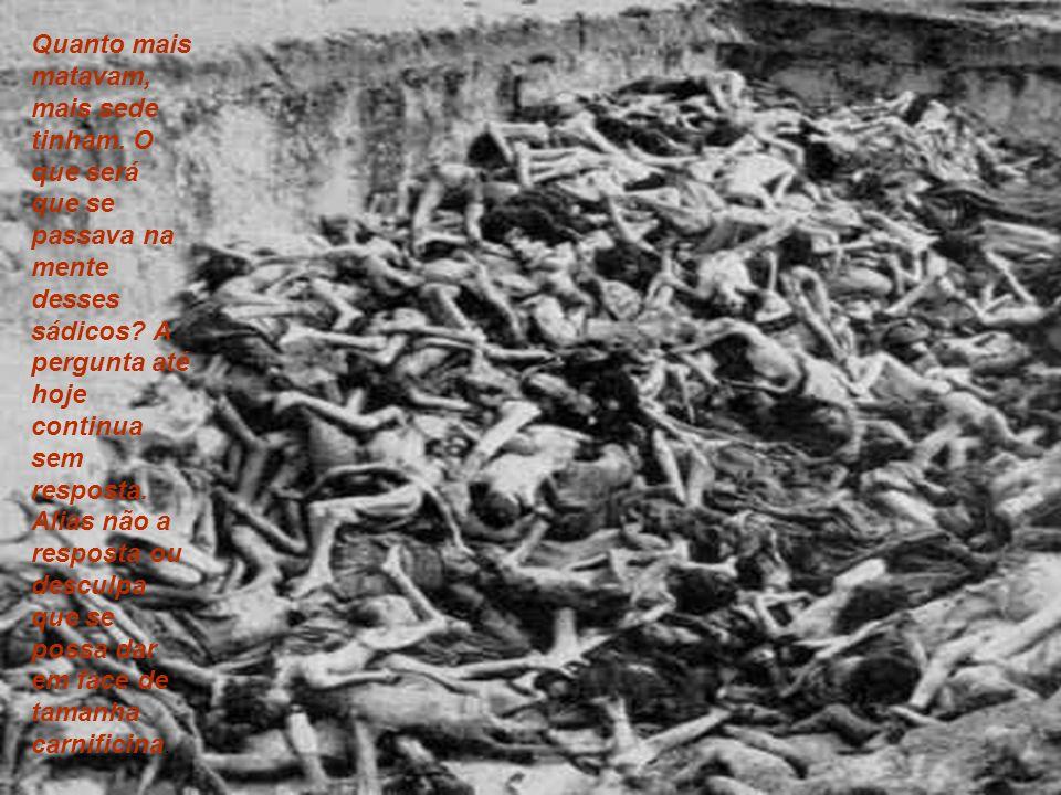 Quanto mais matavam, mais sede tinham