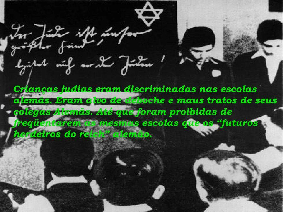 Crianças judias eram discriminadas nas escolas alemãs