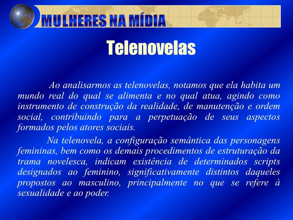 MULHERES NA MÍDIA Telenovelas.