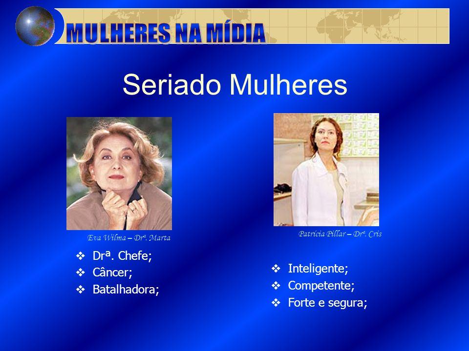 Seriado Mulheres MULHERES NA MÍDIA Drª. Chefe; Inteligente; Câncer;