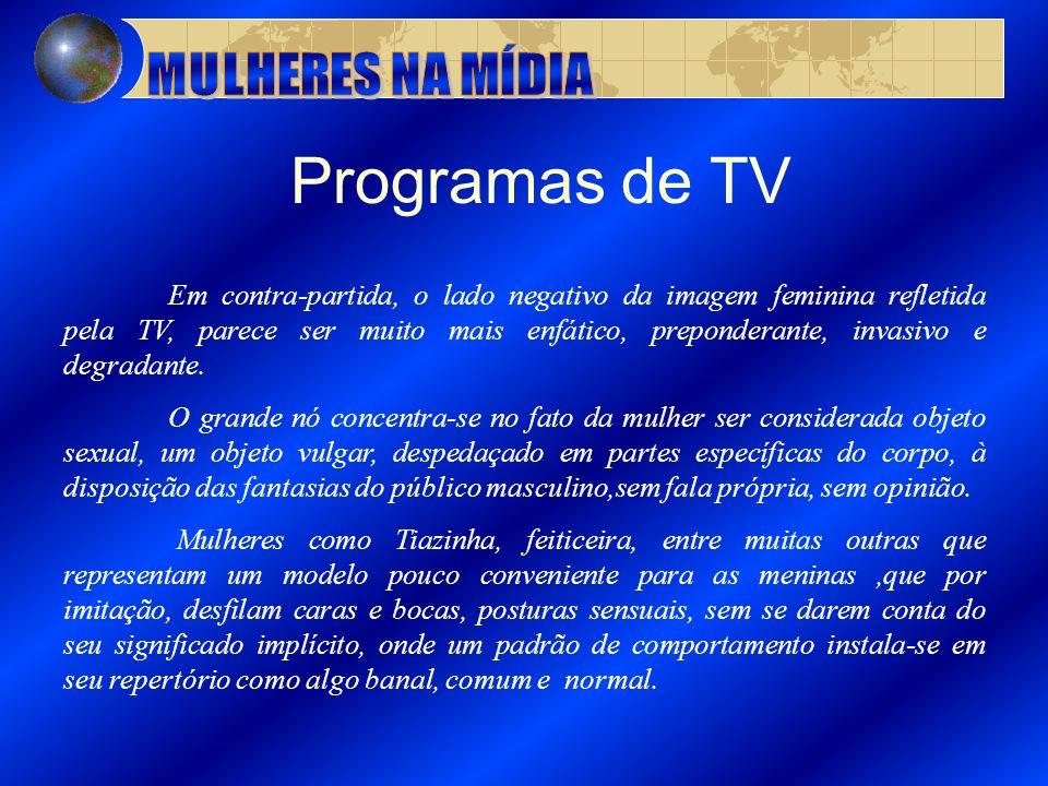 Programas de TV MULHERES NA MÍDIA