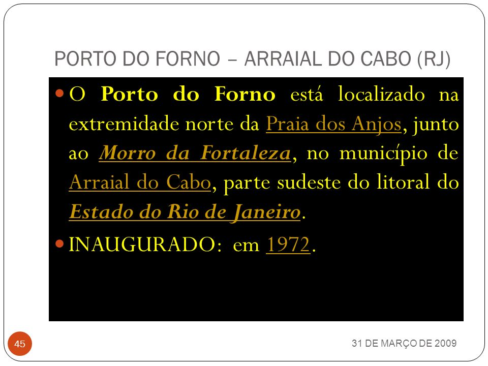 PORTO DO FORNO – ARRAIAL DO CABO (RJ)
