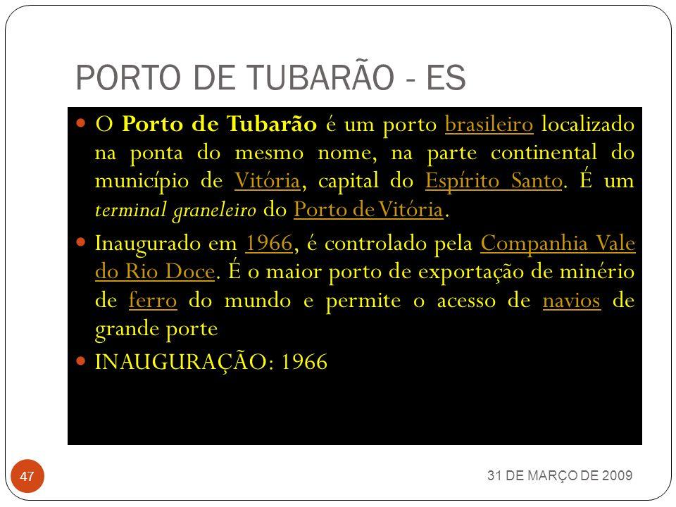 PORTO DE TUBARÃO - ES