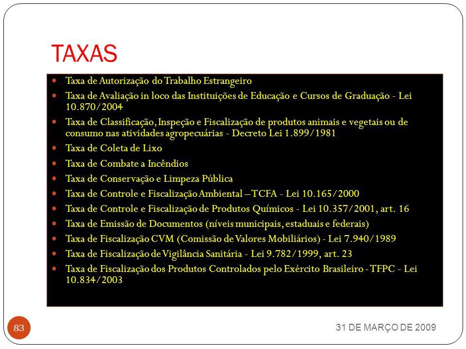 TAXAS Taxa de Autorização do Trabalho Estrangeiro