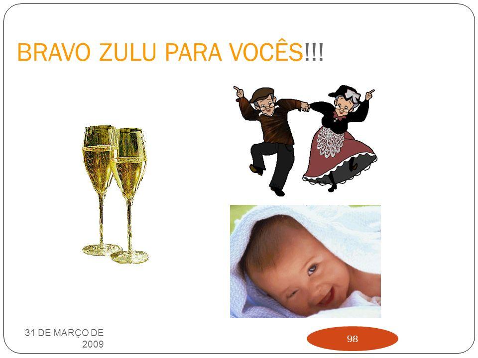BRAVO ZULU PARA VOCÊS!!! 31 DE MARÇO DE 2009