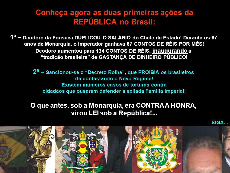 Conheça agora as duas primeiras ações da REPÚBLICA no Brasil: