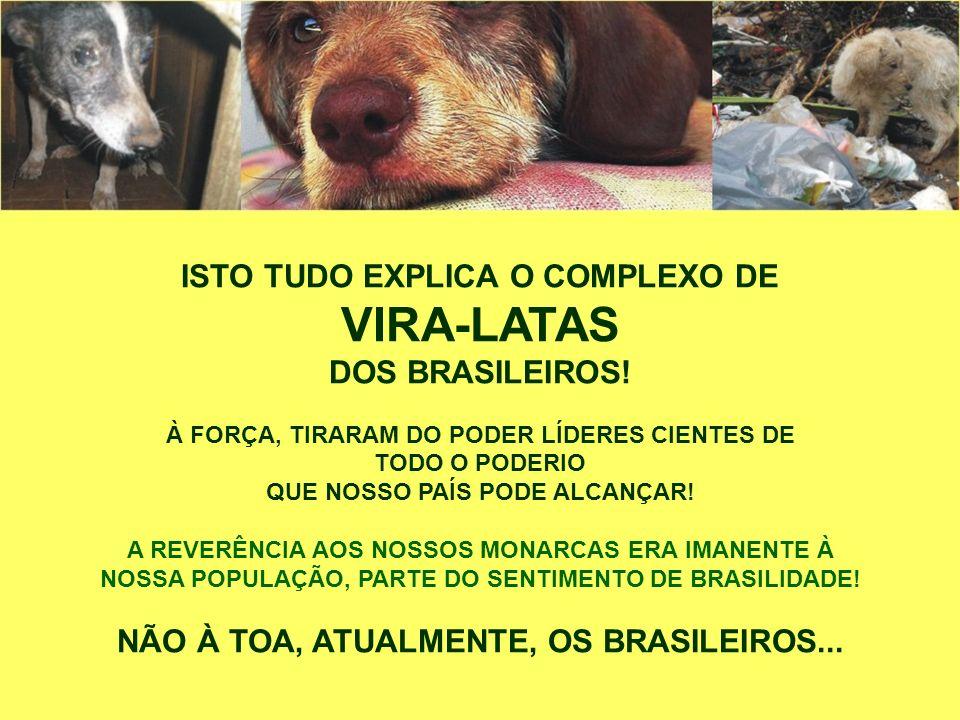 VIRA-LATAS ISTO TUDO EXPLICA O COMPLEXO DE DOS BRASILEIROS!