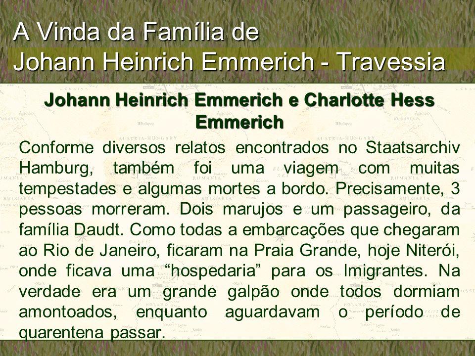 A Vinda da Família de Johann Heinrich Emmerich - Travessia
