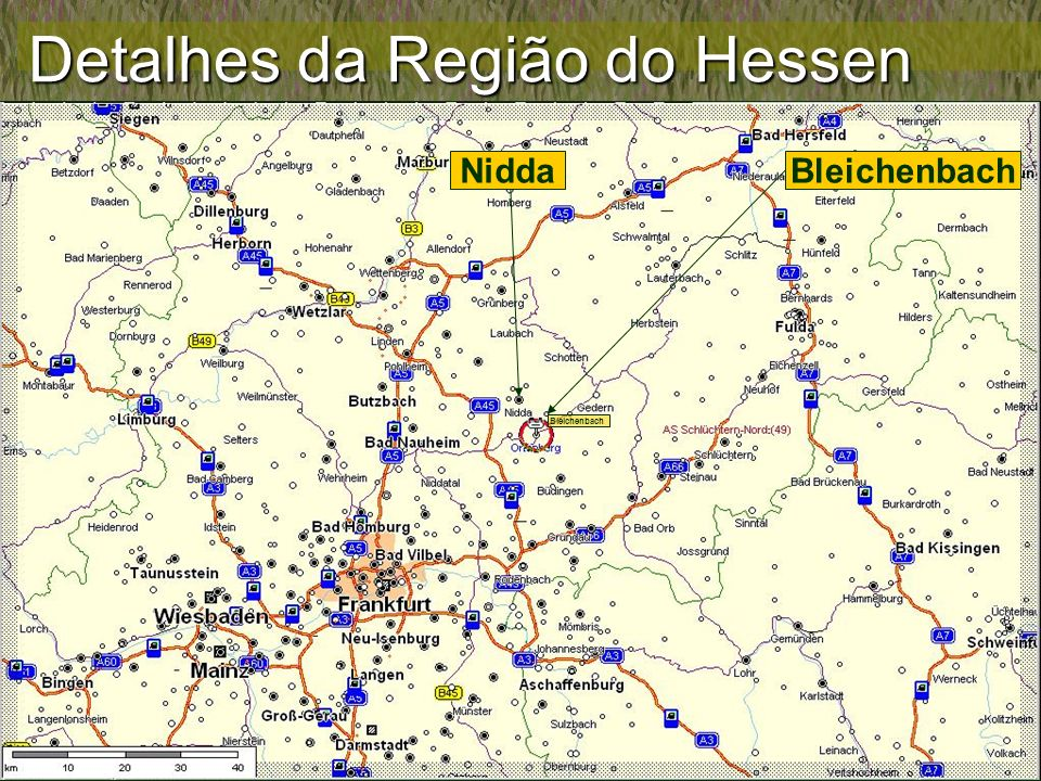 Detalhes da Região do Hessen