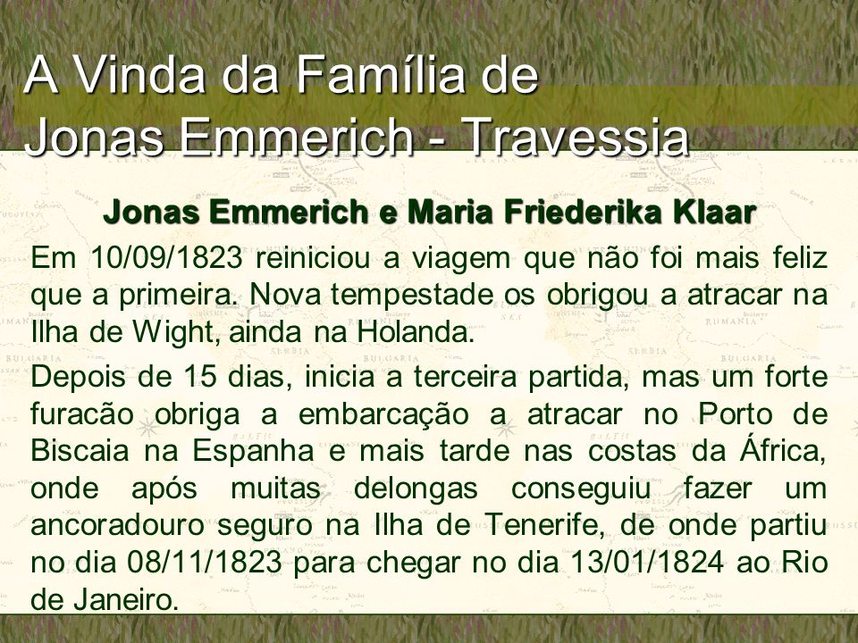 A Vinda da Família de Jonas Emmerich - Travessia