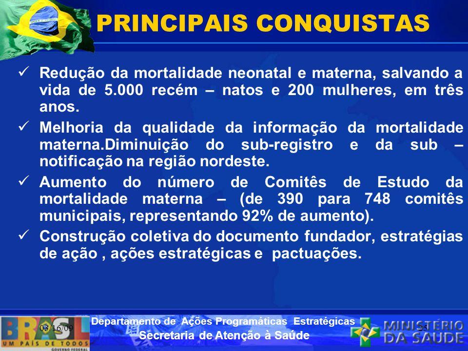 PRINCIPAIS CONQUISTAS