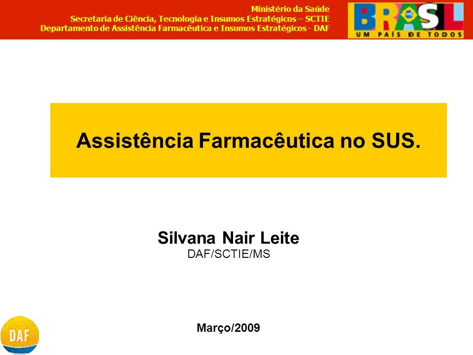Assistência Farmacêutica no SUS.