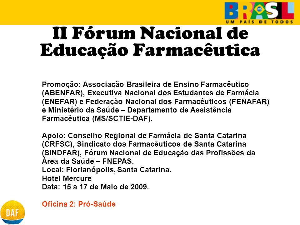 II Fórum Nacional de Educação Farmacêutica