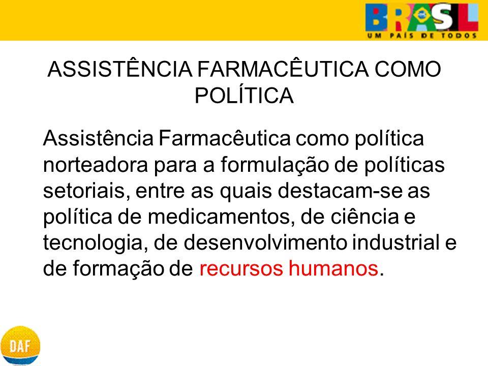 ASSISTÊNCIA FARMACÊUTICA COMO POLÍTICA