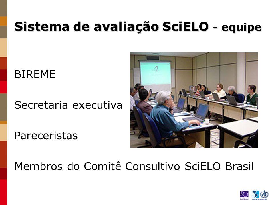 Sistema de avaliação SciELO - equipe