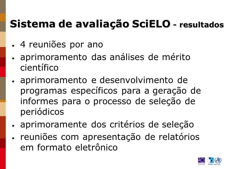 Sistema de avaliação SciELO - resultados
