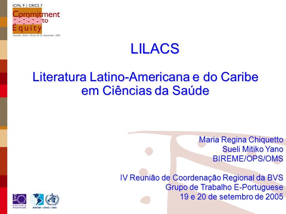 Literatura Latino-Americana e do Caribe em Ciências da Saúde