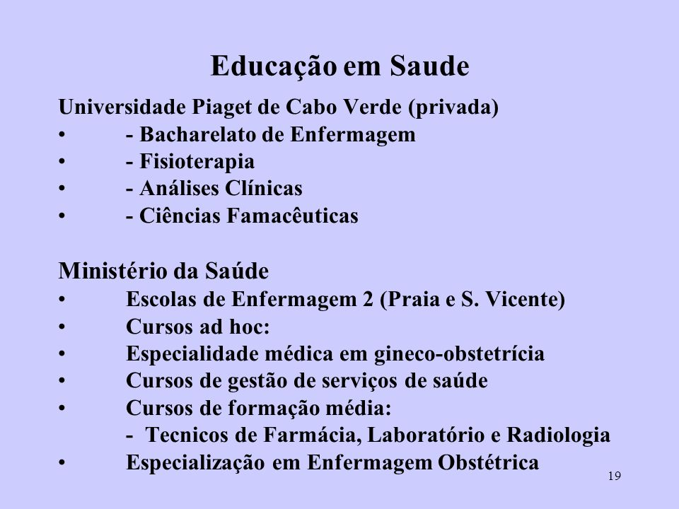 Educação em Saude Ministério da Saúde