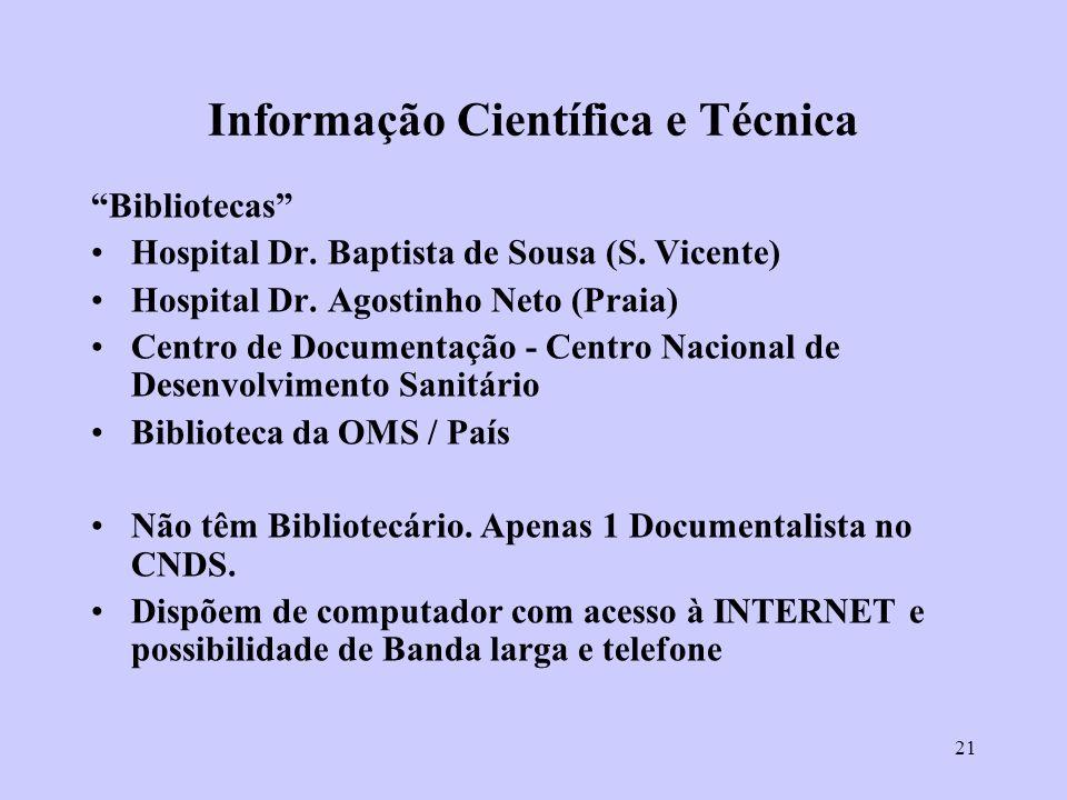 Informação Científica e Técnica