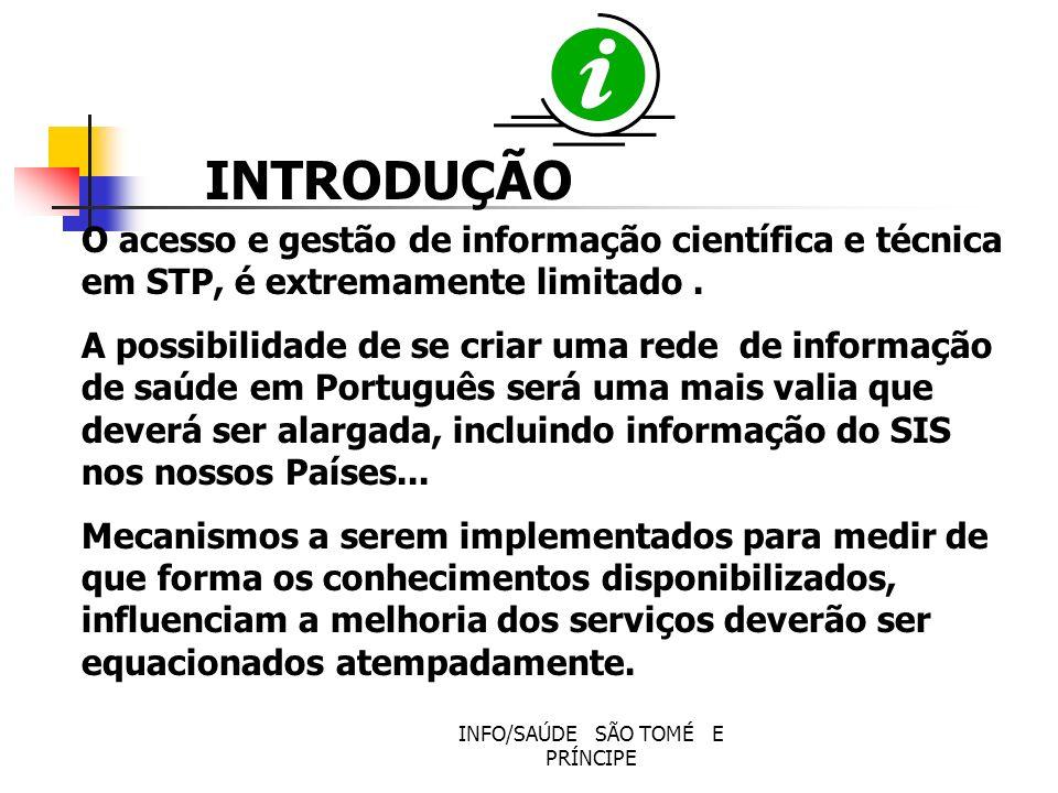 INFO/SAÚDE SÃO TOMÉ E PRÍNCIPE