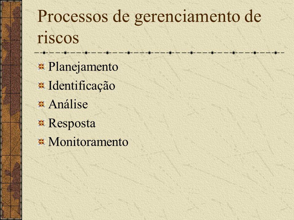 Processos de gerenciamento de riscos