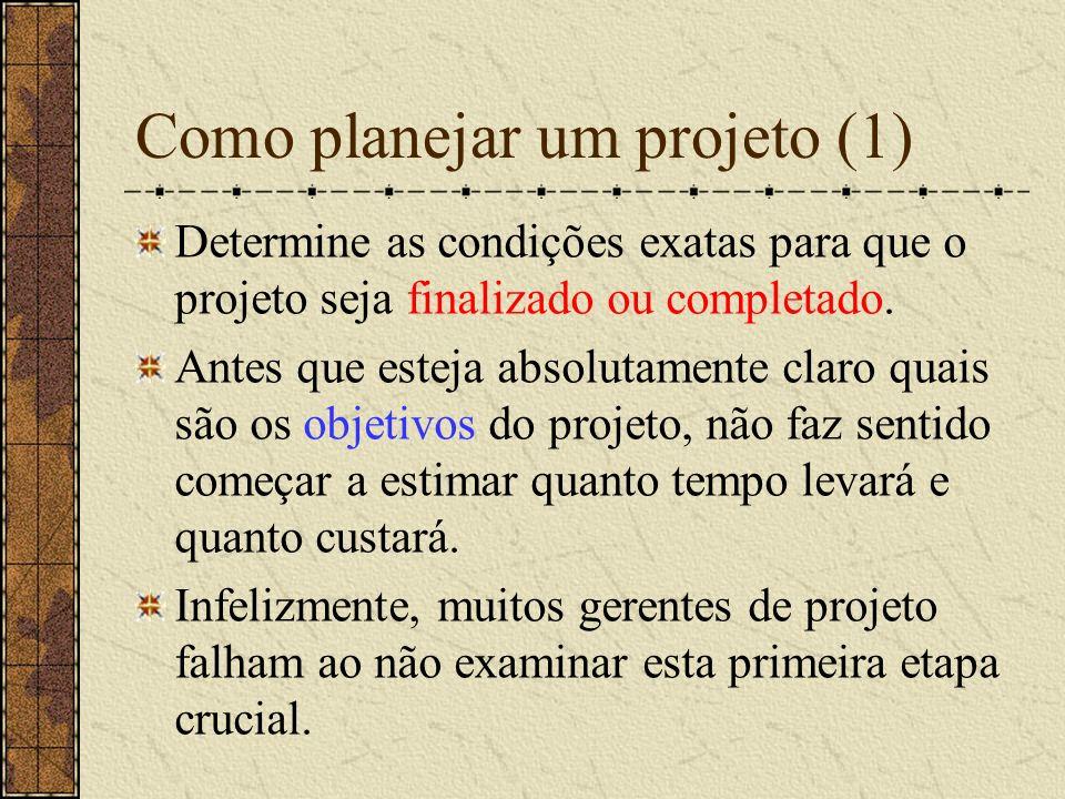 Como planejar um projeto (1)