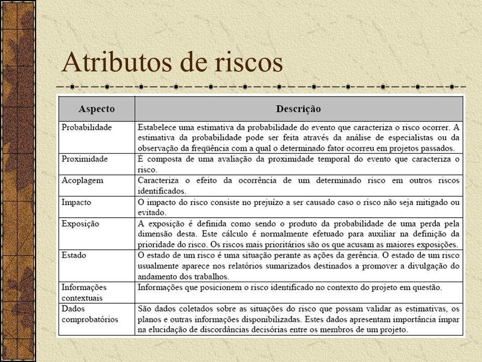 Atributos de riscos
